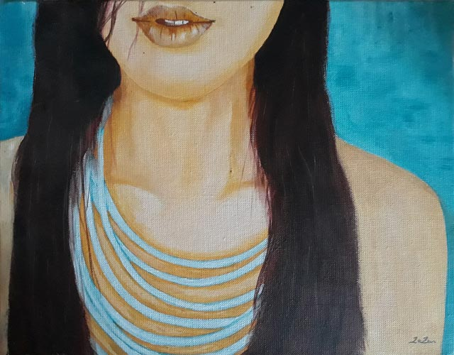 Le collier bleu