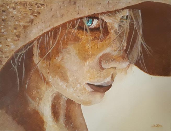 La fille au chapeau de paille