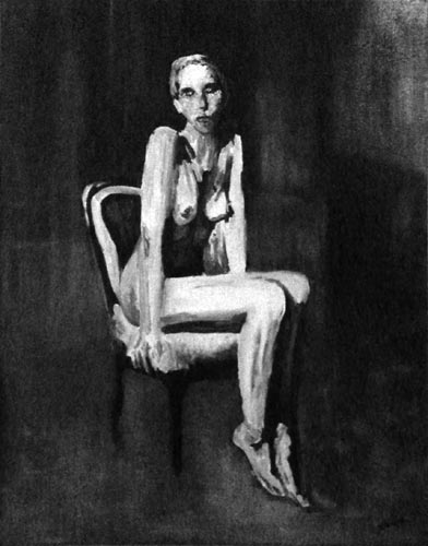 La fille sur une chaise
