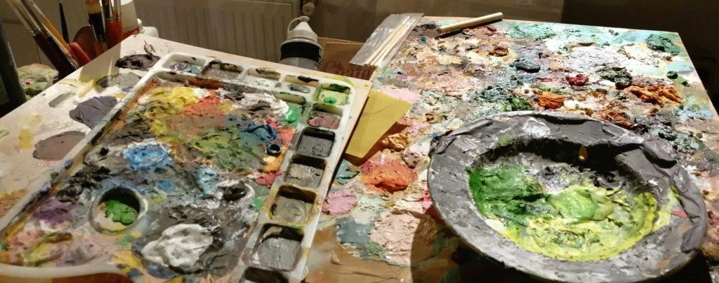 Atelier peinture artiste zazen